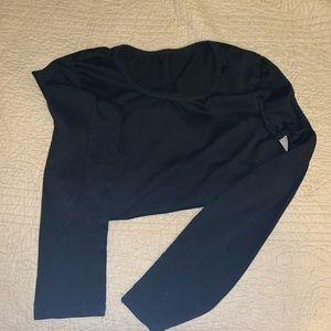 BLACK U-NECK BODY SUIT
